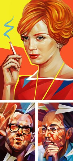 Illustrations by Evgeny Parfenov | Inspiration Grid | Design Inspiration