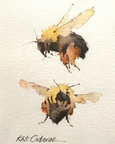 I'll be tomorrow from if anyone wants to drop by I'… – Art Sketches Watercolor Landscape, Watercolor Paintings, Watercolours, Gouache, Drawn Art, Illustration Art, Illustrations, Bee Art, Watercolor Animals