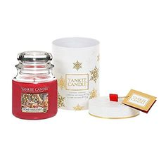 Yankee Candle The Perfect Christmas Jar Candle Gift Set, Red, 11 x 11 x cm Christmas Presents For Boyfriend, Best Christmas Presents, Christmas Mason Jars, Kids Christmas, Martha Stewart Christmas, Candle Jars, Candles, Red, Amazon