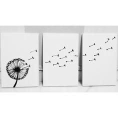 Dandelion DIY #acrylic # bnw #diy #canvas #painting
