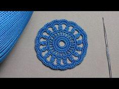 Как связать ажурный мотив круг - вязание крючком для новичков - Education crochet - YouTube