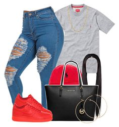 """""""11/09/15"""" by clickk-mee ❤ liked on Polyvore featuring мода, Polo Ralph Lauren, MICHAEL Michael Kors, NIKE и H&M"""