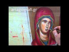 αγιογραφια - YouTube Religious Icons, Religious Art, Painting Videos, Painting Tutorials, Writing Icon, Art Icon, Orthodox Icons, Shadow Box, Madonna