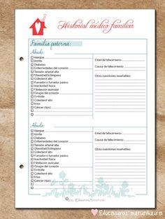 Imprimibles para organización del hogar | Ahorradoras.com