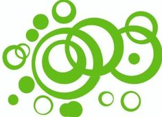 Amazon.com: Lime Green Wall Vinyl Sticker Decal Circles, Bubbles, Dots 25+ Pc: Home & Kitchen