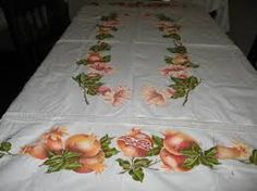 Resultado de imagen para manteles pintados en tela