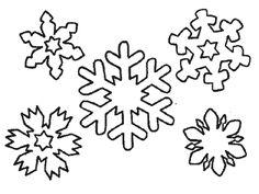 Las 7 Mejores Imágenes De Plantillas Copos De Nieve Para Imprimir En