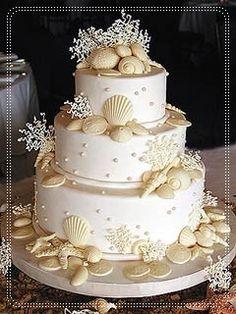 Beach-Theme Wedding Cakes