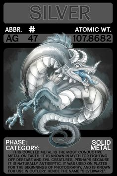Scygon Elemental Cards- Silver by Lucieniibi on DeviantArt Chemistry Classroom, Teaching Chemistry, Science Chemistry, Element Chemistry, Chemistry Lessons, Physical Education Games, Health Education, Periodic Elements, A Level Biology