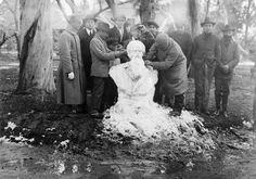 Buenos Aires. Nieve en el Rosedal, 1918.