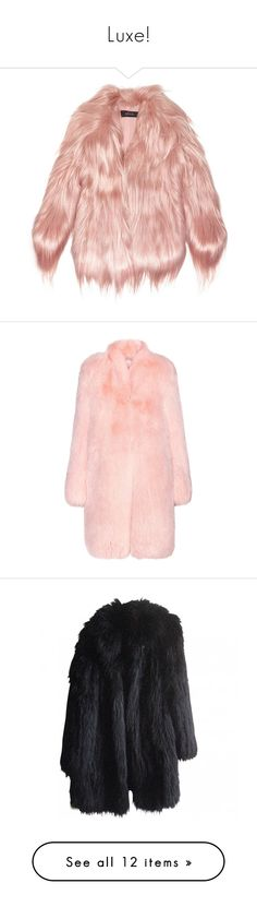 """""""Luxe!"""" by oh-aurora ❤ liked on Polyvore featuring outerwear, coats, jackets, fur, pink, gucci coat, gucci, pink coat, fox fur coat and altuzarra"""