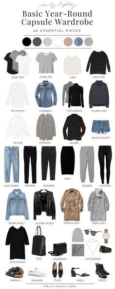 Basic Year-Round Capsule Wardrobe #wardrobebasicscasual