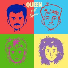 In honor of hot space being released today several years ago, here's a drawing I did of the album co. Queen Art, I Am A Queen, Save The Queen, John Deacon, Queen Drawing, Rock Y Metal, Queen Freddie Mercury, Brian May, Indie