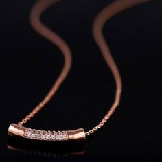 """""""Elegant Series"""" Diamante Rhinestone Cylinder Pendant  Necklace   http://hisandherfashion.com/collections/his-her-fashion-accessories/products/diamante-rhinestone-cylinder-pendant-elegant-series-necklace-for-women"""