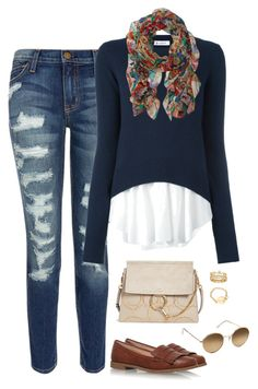 """Untitled #880"" by tracileigh01 on Polyvore featuring Current/Elliott, Dondup, Lauren Ralph Lauren, Miss KG, Chloé and H&M"
