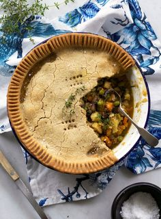 A pie for dinner is always a good idea. This one serves up a massive helping of herby vegetables in a rich gravy with a buttery and delicately crumbly crust. Make the pastry up to 24 hours in advance to keep things simple.