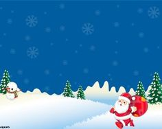 snowy christmas powerpoint template for presentations with santa claus in the slide design powerpoint - Free Christmas Powerpoint Templates
