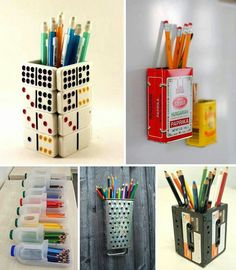 D.I.Y. pencil holders! :)