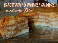 "Prajitura "" 3 pahare"" cu umplutura de mere la multicooker Philips | Retete DU-KAN Mamy Vio Multicooker, Dairy, Cheese, Food, Essen, Meals, Yemek, Eten"