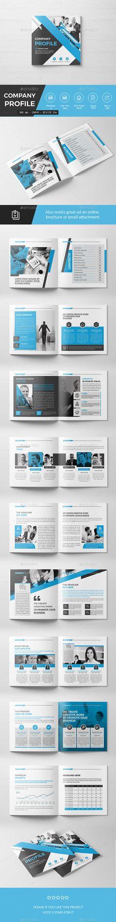 Square Company Brochure - Corporate #Brochures Download here: https://graphicriver.net/item/square-company-brochure/19596253?ref=alena994