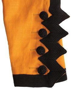 1980s vintage jacket - Yves Saint Laurent - orange black - front