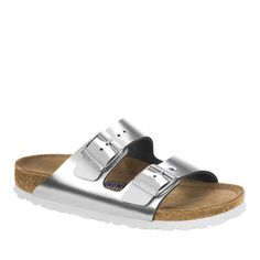 Birkenstock Arizona Two-Strap Comfort Sandal - 8456432 Birkenstock Arizona, Birkenstock Colors, Birkenstock Sandals, Beautiful Sandals, Leather Socks, Comfortable Sandals, Leather Design, Skinny Jeans, Business Suits
