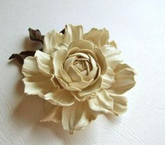 Leather flower   !!!   use leather from purses and belts from thrift stores   !!!