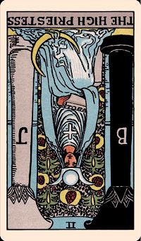 The Card of the Day: The High Priestess (Reversed) — Elliot Oracle - Tarot Card Readings
