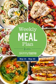 A free flexible weight loss meal plan including breakfast, lunch and dinner and a shopping list. All recipes include calories and Weight Watchers SmartPoints®. Pumpkin patch and hay ride time! Whole Wheat Rolls, Cauliflower Chowder, Roasted Cauliflower, Antipasto Salad, Salads, Vegetarian Recipes, Healthy Recipes, Delicious Recipes, Easy Recipes