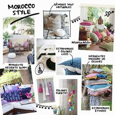 Moodboard cojines Morocco Style   Betsy Costura