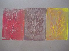Fall Leaf Printmaking With Styrofoam Plates - - Pinned by #PediaStaff.  Visit http://ht.ly/63sNt for all our pediatric therapy pins