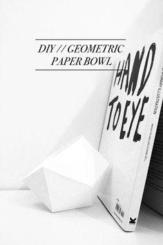 DIY // Geometric paper bowl.