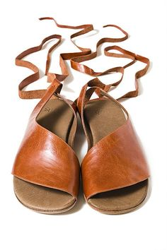 Leather, hand-made, roman sandals