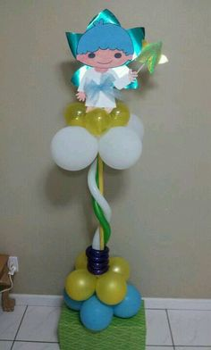 Little Twin star balloon stand by Sheila Marie Matienzo