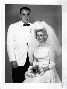 Mr. and Mrs. Kenneth Huss wedding photo; #kentonlibrary #facesandplaces