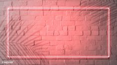 Red neon lights frame on a white brick wall mockup Youtube Logo, Intro Youtube, Youtube Channel Art, Youtube Hacks, Youtube Banner Design, Youtube Banners, Youtube Banner Backgrounds, Neon Backgrounds, Framed Wallpaper