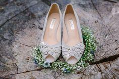 Leonie Gold Snake Leather Platform Vintage Wedding Shoe - Rachel Simpson Shoes