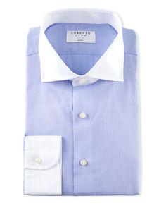 Buildhigh-men clothes Mens Long Sleeves Spread Collar Button Down Floral Design Shirts