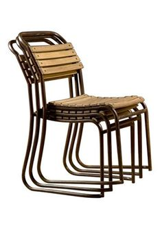 Slatted Iron Stacking Chair*