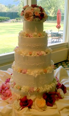 Rose Butter-cream Wedding Cake