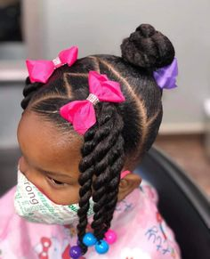 Black Baby Girl Hairstyles, Little Girls Natural Hairstyles, Toddler Braided Hairstyles, Natural Hairstyles For Kids, Lil Girl Hairstyles Braids, Little Girl Braids, Girls Braids, Girl Hair Dos, Hair Ideas