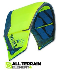 Element4 All-Terrain Kitesurfing Kite- cant decide between the apple green and orange/black