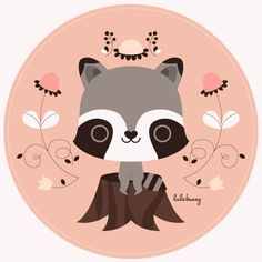 Spring Day Raccoon by Luli Bunny, via Flickr
