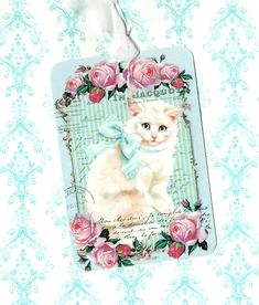 Tags, Sweet Kitten, Cat Tags, White Cat, Birthday Tags, Gift Tags, Cat Lover by luvcrystals on Etsy https://www.etsy.com/listing/507239877/tags-sweet-kitten-cat-tags-white-cat