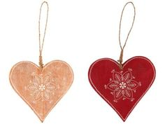 Large Nordic Wooden Heart Christmas Tree Decoration