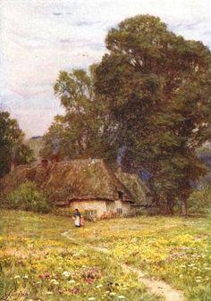 At Quidhampton ~ Helen Allingham ~ (English: 1848-1926)