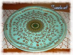 metal tray decoupage sanela art