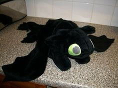 "20"" Toothless Plush - Minky by Finnickie"