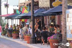 Aviles Street's sidewalk cafes are a great place for a relaxing breakfast, lunch or dinner!