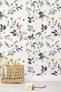Gorgeous floral wallpaper design by Lilipinso.